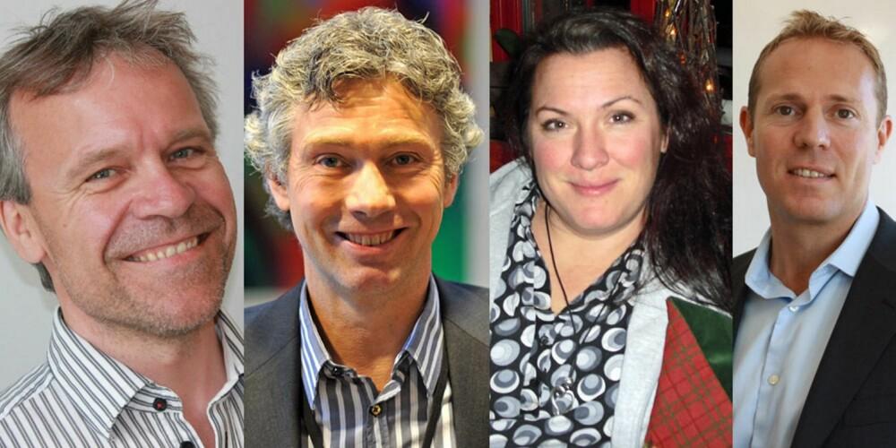 EKSPERTENE: Fra venstre: Paal Leveraas, Jon Paulsen, Sonja Skinnarland, Tim Rosenkilde.