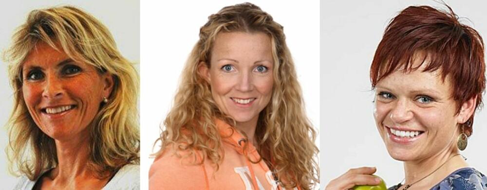 EKSPERTENE: Line Kristin Johnson, klinisk ernæringsfysiolog, Cathrine Borchsenius, daglig leder av Bramat.no, Therese F. Mathisen, ernæringsfysiolog.