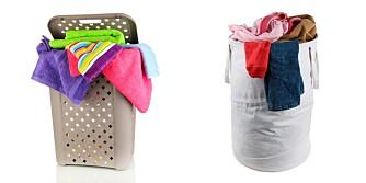 LUFT TØYET: Det er bedre med en kurv som gir luft til skittentøyet, slik den til venstre. Kurven til høyre er pottetett. Det kan skape ekstra problemer med fuktig tøy.