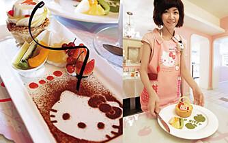 KATTEMAT: På Hello Kitty Café er maten like søt som interiøret.