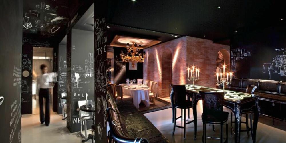MØRKT SOM SYNDEN: I Madrid har Philippe Starck skapt nok et mesterverk av en resturant.