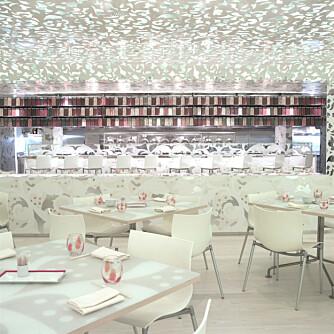 HVITT SOM SNE: På Beijing Noodle No. 9 må du nesten ha solbriller for å ikke bli blendet av alt det hvite.
