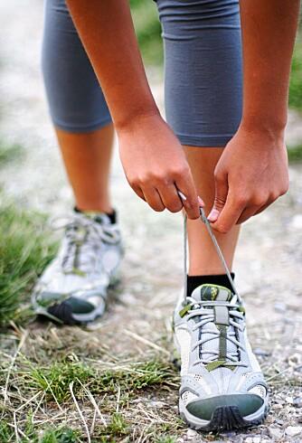 SNØR PÅ DEG SKOENE: Du trenger ikke starte med fullt trøkk, du kommer deg gradvis tilbake i form ved å først komme deg over dørstokken.