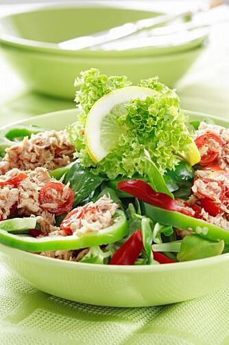 GRØNT FAT: - Gå for rene produkter slik at du ikke får mye salt via hel-eller halvfabrikata, tipser Tina Hamelten.