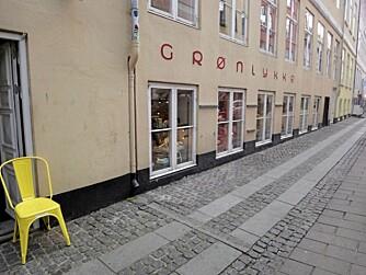 SJARMERENDE: Grønlykke er et fargerikt innslag blant Københavns interiørbutikker.