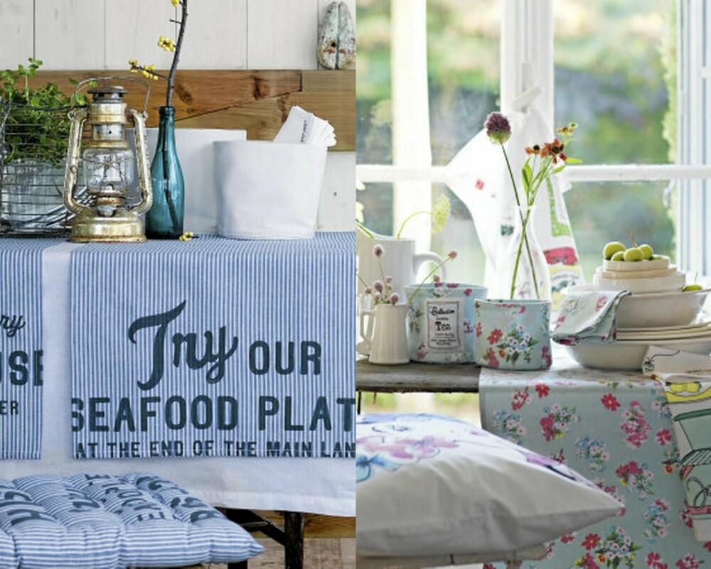 MARITIM ROMANTIKK: H&M Home sin sommerkolleksjon var inspirert av hav og blomsterenger.