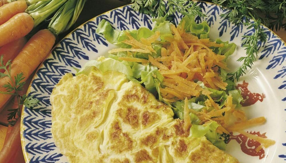 Dagens rett: Omelett med råkost
