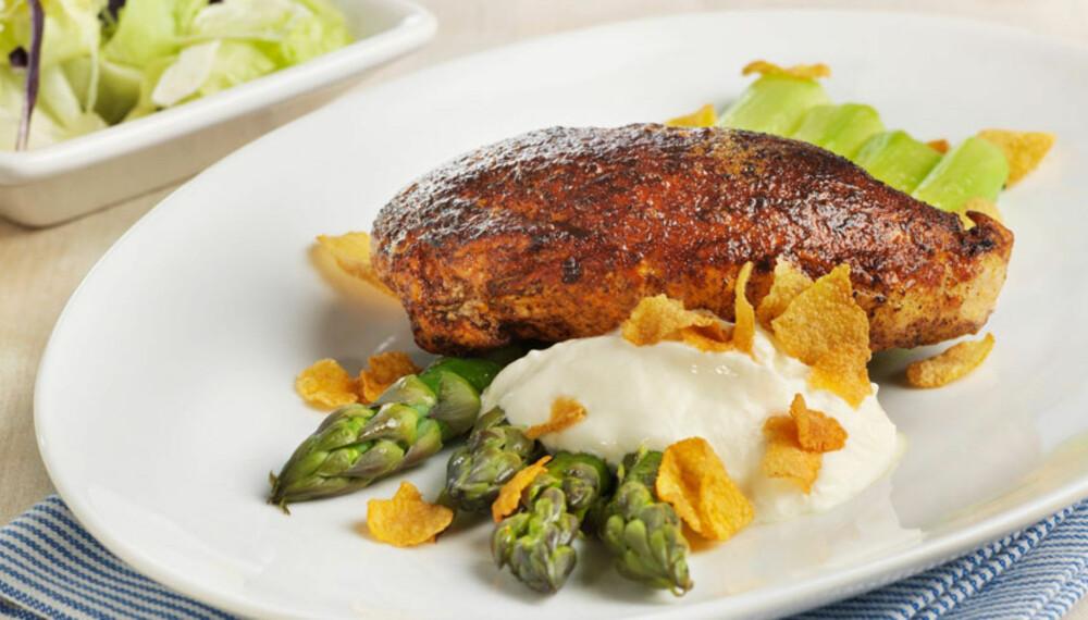Dagens rett: Paprikakylling med asparges