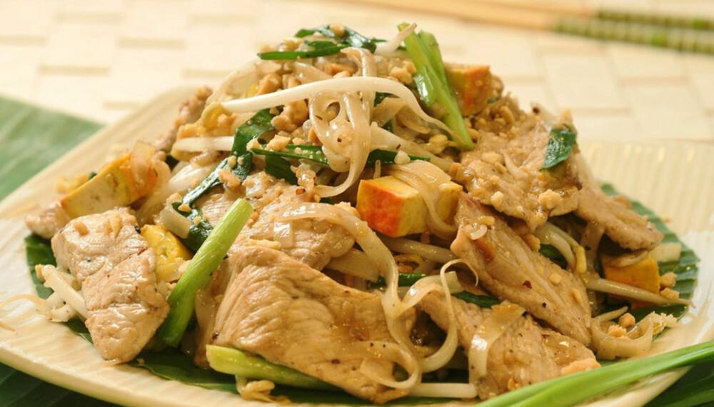 Dagens rett:          PAD THAI - stekte nudler med svinekjøtt