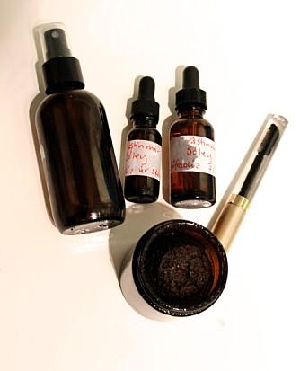 HJEMMELAGET: Astudottir bruker skrubb laget av kaffe og oljer.