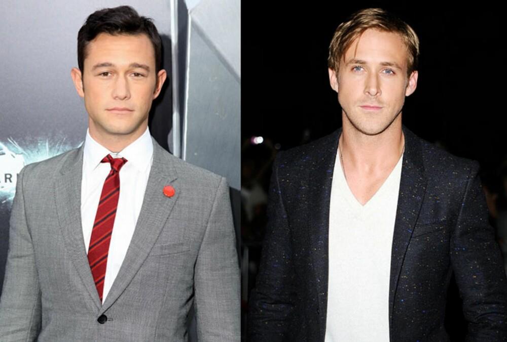 INSPIRASJON: Skuespillerne Joseph Gordon-Levitt (t.v.) og Ryan Gosling er begge menn som legger stor vekt på stilen sin.