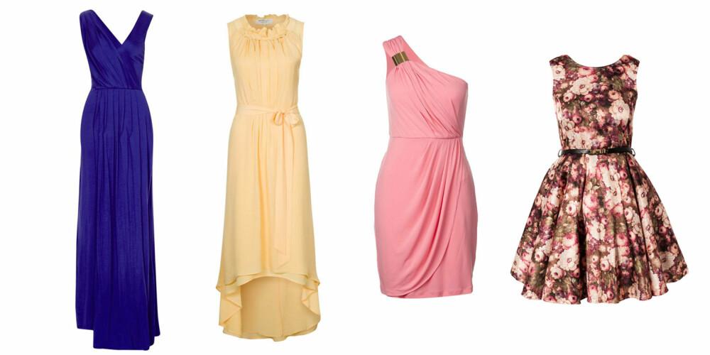 4ecccd7b RIKTIG KLEDD: (F.v.) Lang kjole kreves hvis kleskoden er