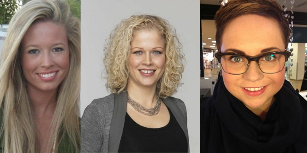 HUDEKSPERTENE: Fra venstre Kristine Nordby Grip, Ann Kristin Stokke og Julie Christoffersen.