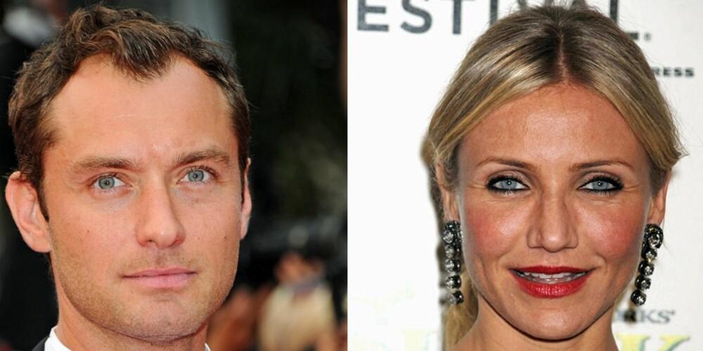 40 ÅR: Skuespillerne Jude Law og Cameron Diaz er begge 40 år, vakre og vellykkede kjendiser. Samtidig kan man se at det er en viss forskjell på huden deres.