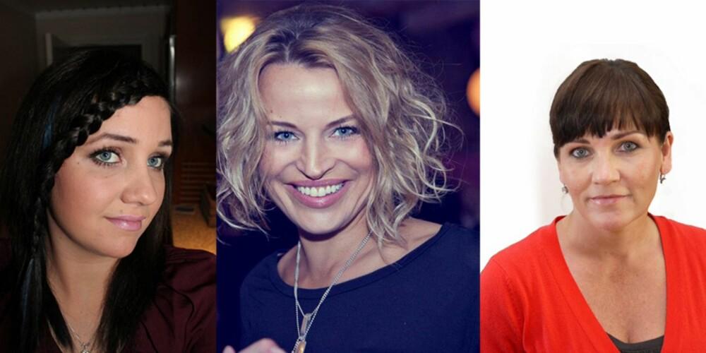 SMINKEEKSPERTENE: Fra venstre Martina Aspevik, sminkeblogger, Hilde Lise Berglund, kreativt ansvarlig for bareMinerals og Wenche Stageboe Eidissen, ansvarlig makeupartist for Jane Iredale.