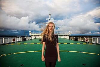 FERGETUR: Noroc tok dette bildet på vei over Østersjøen. Hun møtte den unge kvinnen ved en tilfeldighet.