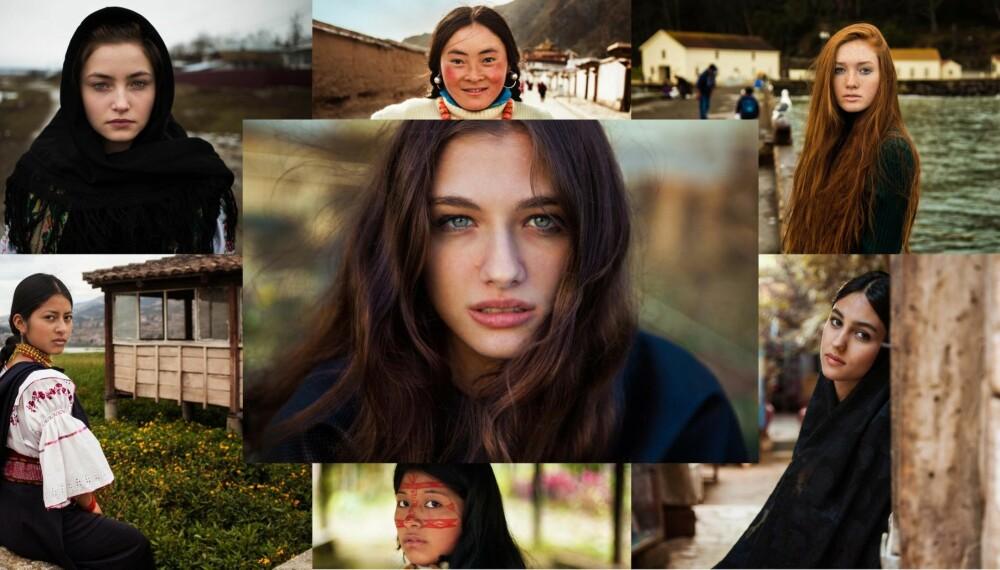 SKJØNNHET VERDEN RUNDT: Noen av kvinnene som Mihaela Noroc har fotografert.