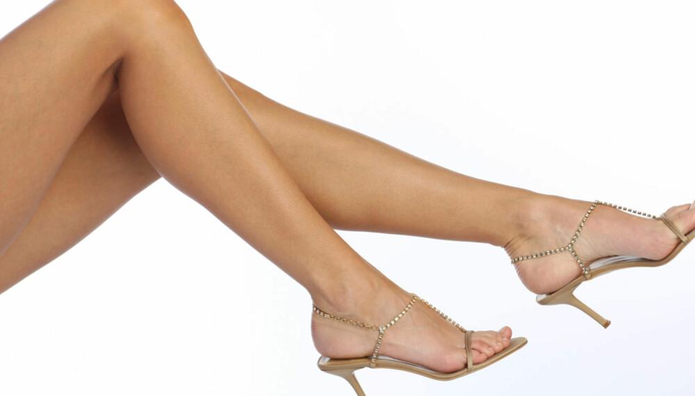 LANGE BEN: Hvilke sko du velger kan ha mye å si for hvordan bena dine ser ut.