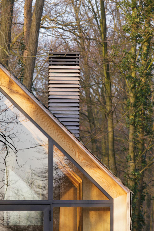 GJENNOMFØRT: Selv pipen har den samme designen som resten av huset.