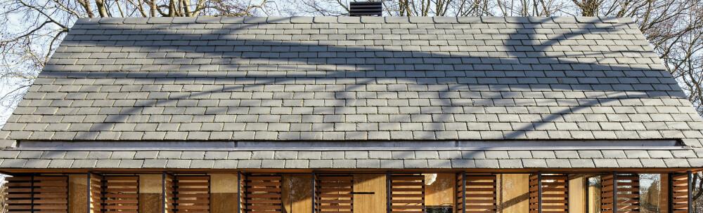 INNEBYGD TAKRENNE: Takrennene ler konstruert som en integrert del av taket.