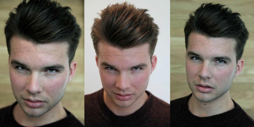 JAMES DEAN: Gutta kan la seg inspirere av ikonet gjennom å spare til lengre lokker og gre håret bakover. Styling: Camilla Algrøy Hansen.