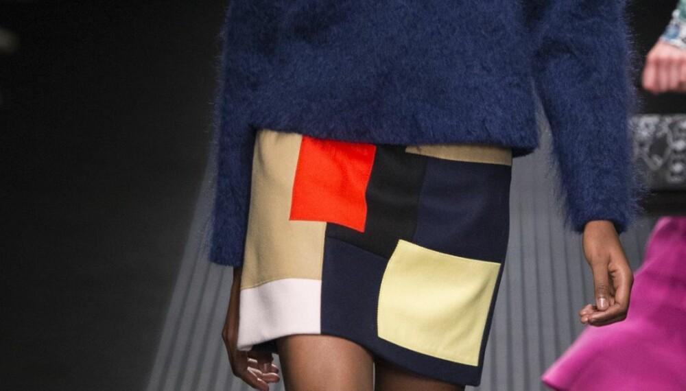 HØSTTREND: Skal du gå med patchwork, anbefaler stylisten at du bruker det sammen med plagg i samme fargetone.