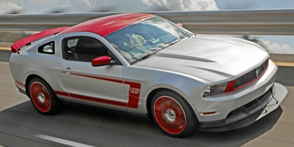 KJØRER BRA: Ford Mustang Boss 302
