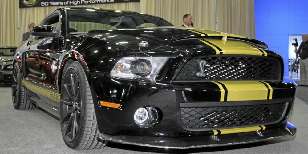 ENDA HVASSERE: Her er jubileumsmodellen Ford Mustang Shelby GT500 Super Snake.