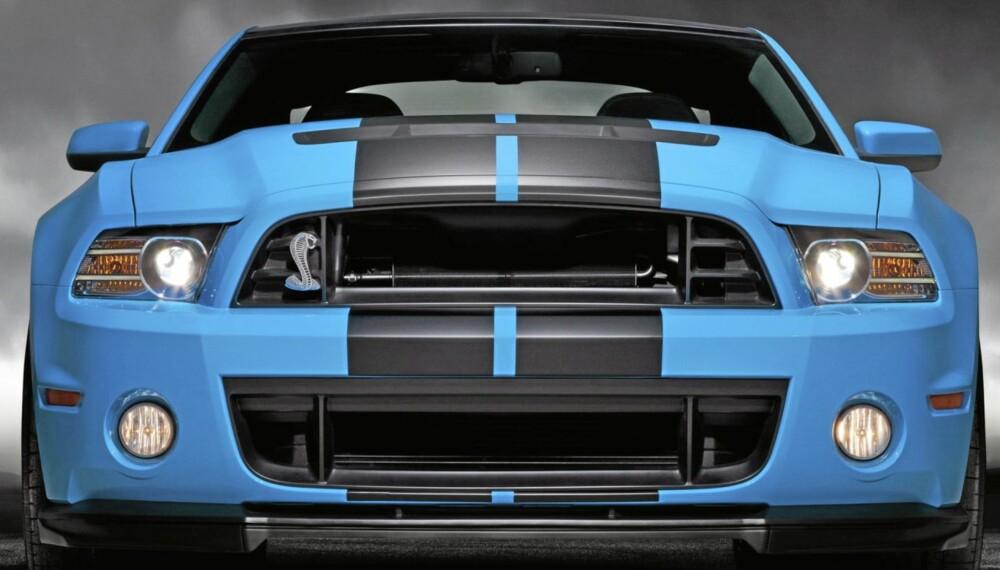VILL HEST: Ford Mustang Shelby GT500 med 660 hesterkrefter - og noe som kan antyde europeiske kjøreegenskaper(!).