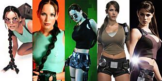Lara Croft gjennom tidene.