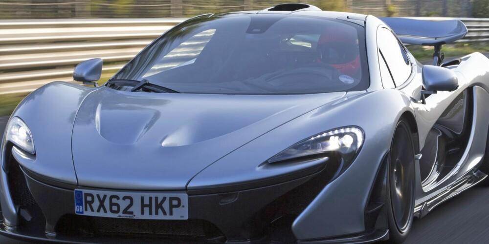 REVOLUSJON: McLaren vil ha vekk viskeren, som her på superbilen McLaren P1. FOTO: Patrick Gosling