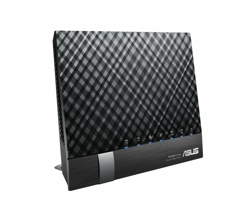 Hos ASUS har alle AC-ruterne beamforming, eller AI Radar, som de kaller det. Men de har flere ulike design. Noen har beamforming med eksterne antenner, mens denne AC1200-ruteren, RT-AC56U, har interne antenner, uten å bruke den sylindriske oppstillingen som D-Link og Apple bruker.