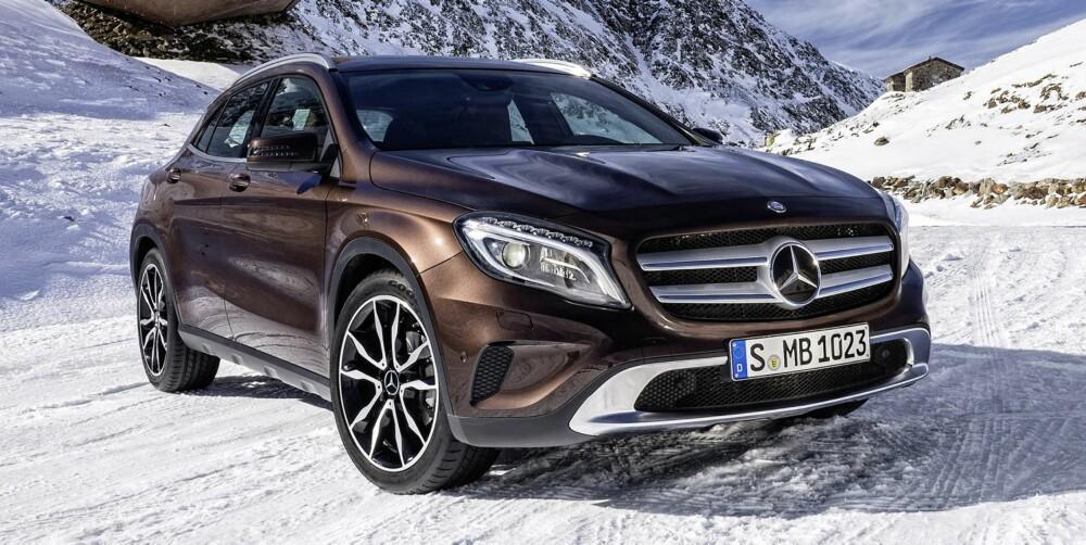 PAKKE: GLA-versjonene med firehjulsdrift (4Matic) kommer med offroad teknikkpakke med DSR (Downhill Speed Regulation) som standard. FOTO: Daimler AG