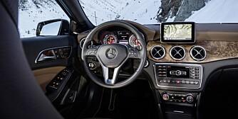UVANT: Mercedes GLA kommer med uvanlig mye utstyr som standard til en Mercedes å være. Bildet er fra en GLA 220 CDI 4Matic. FOTO: Daimler AG