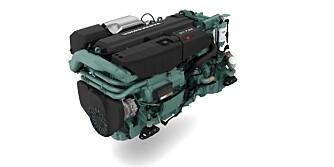AKSEL: D11-motoren er beregnet for akseldrift og har fått forsterkninger og forbedringer. FOTO: Volvo Penta