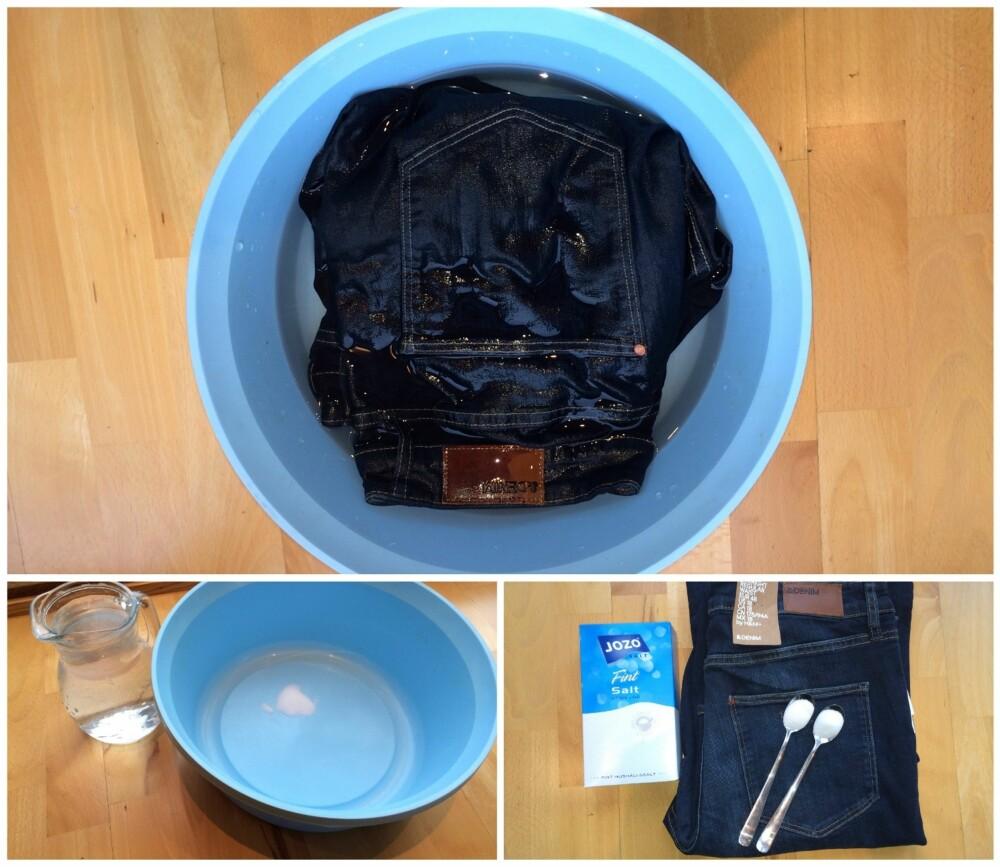 ENKELT: Saltbad-trikset er sålig enkelt, og alt du trenger er to teskjeer med salt, vannbalje og en time ekstra til vasking.