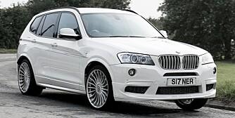 JÅLETE: Denne versjonen av BMW Alpine XD3 Bi-Turbo med 21-tommers felger ser litt for pimpa ut for min smak. FOTO: TopGear
