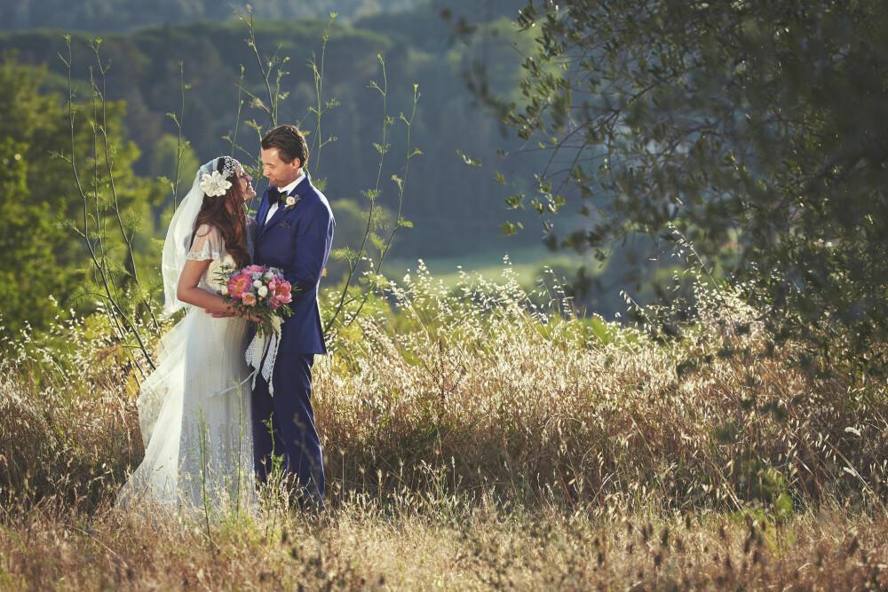 ROMANTISK: Bryllupet i Italia ble romantisk, og både vakrere og mer spesielt enn brudeparet forutså.