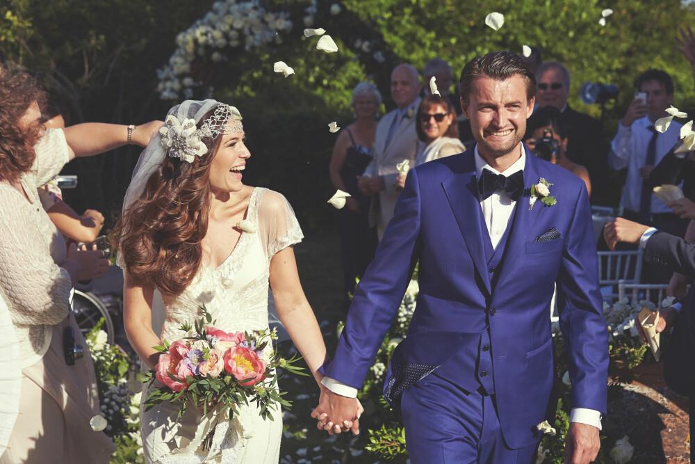 NYGIFT: Et lykkelig brudepar er endelig gift!