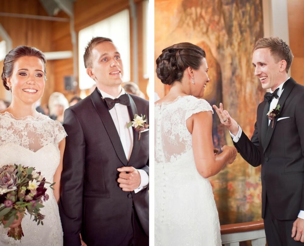 """NYGIFTE: Vielsen fant sted i Ålgård kirke. Brudeparet gikk ut til """"Love story meets Viva La Vida""""."""