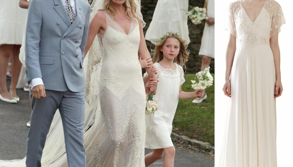 9fa32064d91e Designeren Jenny Packham har flere kjoler som ligner Kate Moss sin  vintage-inspirerte brudekjole.