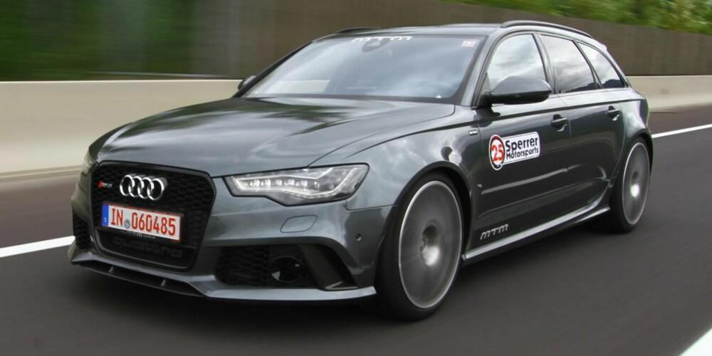 LITT STERKERE: Audi RS6 Avant fra MTM. FOTO: MTM