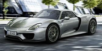 TIL BUTIKKEN: Den ser ut som en fullblods banebil, men har bagasjeplass på 110 liter og kan brukes som elbil til butikken. FOTO: Porsche