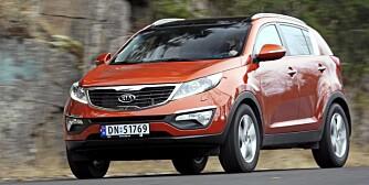 BILLIG OG BRA: Kia Sportage ser fresh ut, har fin motor, gode kjøreegenskaper og syv års garanti. Dessuten er den rimelig.