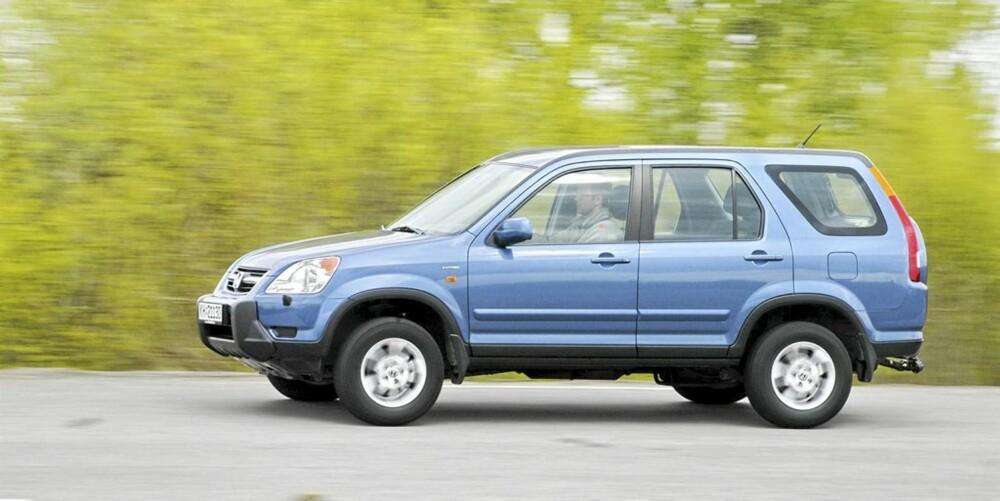 Honda CR-V: Herlig bensinmotor og god plass, dessuten er CR-V en av de få som følger RAV4 på feilstatistikken.