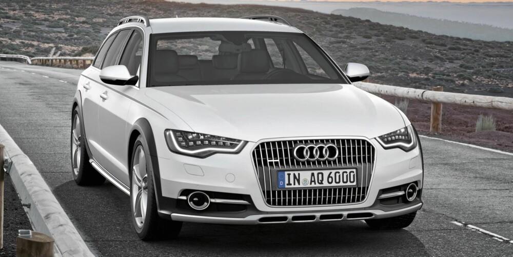 IKKE BESKJEDEN: Størrelse og framtoning vil sikre deg oppmerksomhet når du ankommer i en Audi A6 Allroad. FOTO: Audi