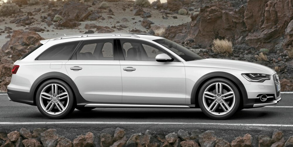 UTSTYR: 18-tommershjul er standard på Audi A6 Allroad. Det samme er luftfjæring og automatgir. FOTO: Audi