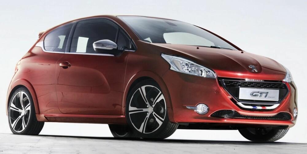 VISES SNART: Peugeot 208 GTI Concept vises på bilutstillingen i Genève, sammen med den snart norgesaktuelle 208