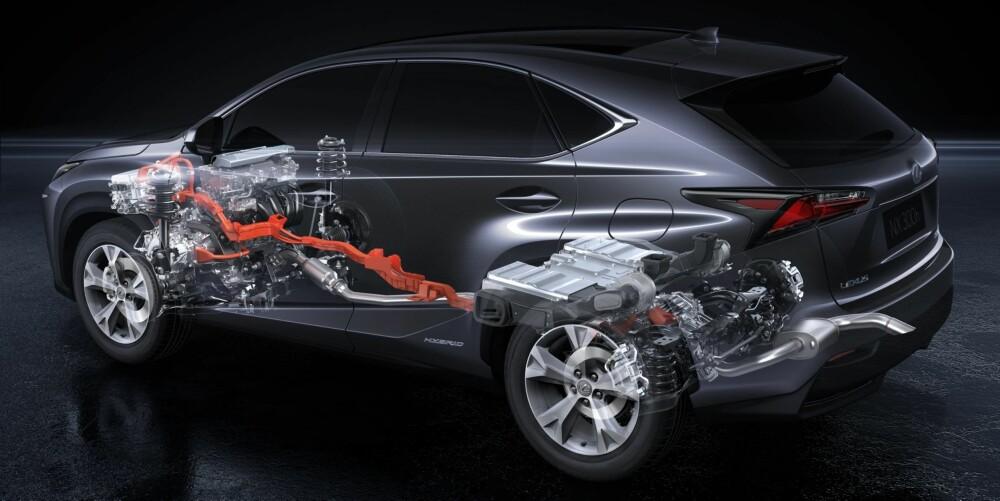 KRAFTFLYT: Det er en elmotor som driver bakhjulene i Lexus NX 300h. FOTO: Lexus