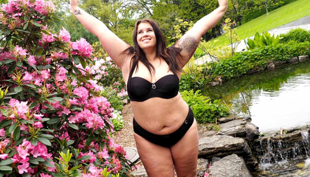 BIKINIKROPPEN MIN: Jeg skal ha det gøy, bade og le med vennene mine i sommer, og om noen skulle tenke noe negativt om kroppen min så er det faktisk deres problem.